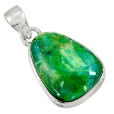 Clearance Sale- 925 sterling silver 12.22cts natural green opaline fancy pendant jewelry d36406
