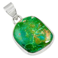 Clearance Sale- 13.15cts natural green opaline 925 sterling silver pendant jewelry d36408