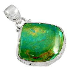 Clearance Sale- 14.23cts natural green opaline 925 sterling silver pendant jewelry d36417
