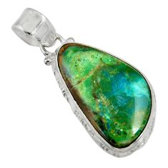 Clearance Sale- 14.68cts natural green opaline 925 sterling silver pendant jewelry d36419