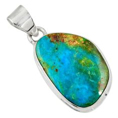 Clearance Sale- 12.58cts natural green opaline 925 sterling silver pendant jewelry d36420