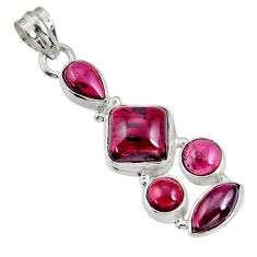 11.25cts natural red garnet 925 sterling silver pendant jewelry d36523