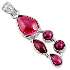 11.97cts natural red garnet 925 sterling silver pendant jewelry d36526