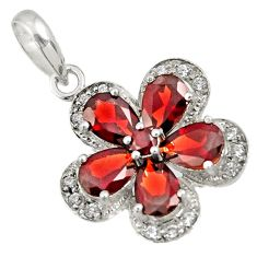 925 sterling silver 6.53cts natural red garnet topaz pendant jewelry d36676