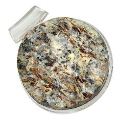 Clearance Sale- 925 silver 31.94cts natural bronze astrophyllite (star leaf) pendant d36884