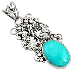 925 silver 7.39cts natural green kingman turquoise holy cross pendant d36908