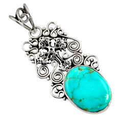 925 silver 12.60cts natural green kingman turquoise holy cross pendant d36919