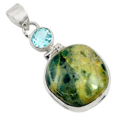 Clearance Sale- 925 silver 26.16cts natural orange apatite (madagascar) topaz pendant d37584