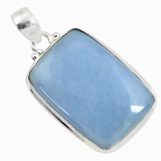 Clearance Sale- 925 sterling silver 22.44cts natural blue angelite pendant jewelry d37864
