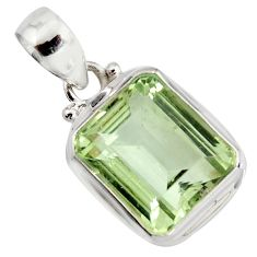 12.59cts natural green amethyst 925 sterling silver pendant jewelry r14552