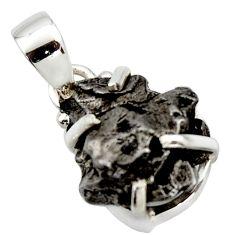 20.39cts natural campo del cielo (meteorite) 925 sterling silver pendant r17581