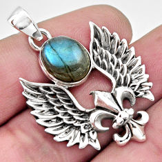 5.52cts natural blue labradorite 925 sterling silver pendant jewelry r17606