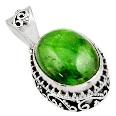 925 sterling silver 9.39cts natural green chrome diopside pendant jewelry r17768