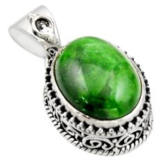 10.59cts natural green chrome diopside 925 sterling silver pendant r17777