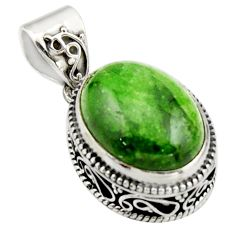 9.92cts natural green chrome diopside 925 sterling silver pendant jewelry r17780