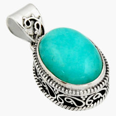 925 sterling silver 9.97cts natural green peruvian amazonite pendant r17807