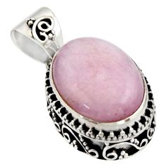 10.02cts natural pink morganite 925 sterling silver pendant jewelry r17821