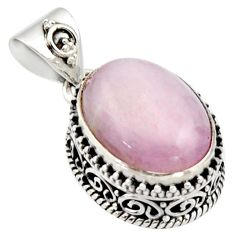 10.33cts natural pink morganite 925 sterling silver pendant jewelry r17822