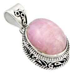 10.33cts natural pink morganite 925 sterling silver pendant jewelry r17823