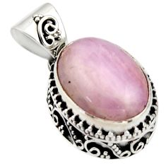 925 sterling silver 9.63cts natural pink morganite oval pendant jewelry r17824