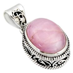 9.72cts natural pink morganite 925 sterling silver pendant jewelry r17825