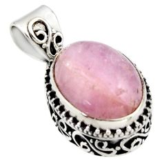 925 sterling silver 10.04cts natural pink morganite pendant jewelry r17827