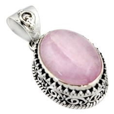 10.04cts natural pink morganite 925 sterling silver pendant jewelry r17829