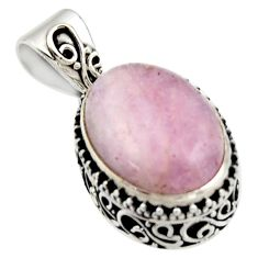 925 sterling silver 9.35cts natural pink morganite oval pendant jewelry r17830