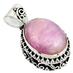 9.97cts natural pink morganite 925 sterling silver pendant jewelry r17832