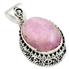 925 sterling silver 10.30cts natural pink morganite oval pendant jewelry r17833