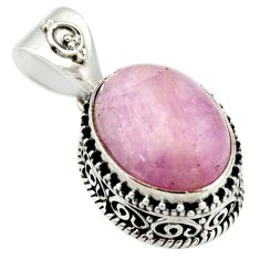 10.54cts natural pink morganite 925 sterling silver pendant jewelry r17834