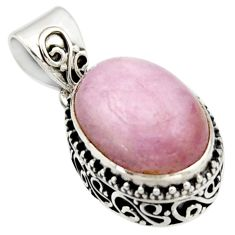 925 sterling silver 9.97cts natural pink morganite oval pendant jewelry r17836