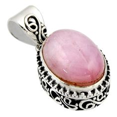 9.72cts natural pink morganite 925 sterling silver pendant jewelry r17837