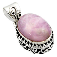 925 sterling silver 10.33cts natural pink morganite pendant jewelry r17839