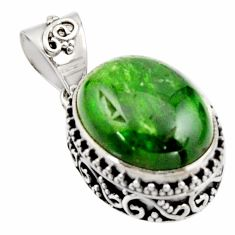 9.39cts natural green chrome diopside 925 sterling silver pendant jewelry r17840