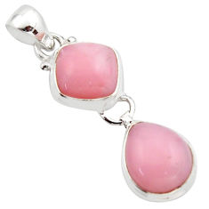 925 sterling silver 10.02cts natural pink opal cushion pendant jewelry r18044