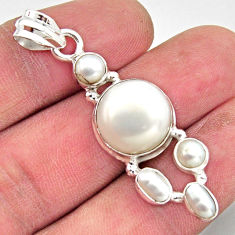 13.05cts natural white pearl 925 sterling silver pendant jewelry r18365