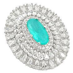 Aqua chalcedony topaz 925 sterling silver pendant jewelry c19031