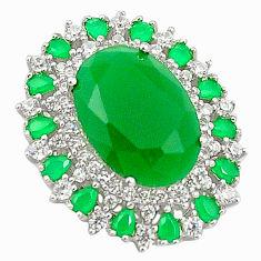 Aqua chalcedony topaz 925 sterling silver pendant jewelry c19110
