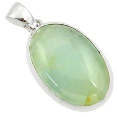 19.07cts aquatine lemurian calcite 925 sterling silver pendant jewelry r39963