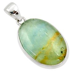 19.99cts aquatine lemurian calcite 925 sterling silver pendant jewelry r39975