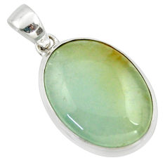 17.57cts aquatine lemurian calcite 925 sterling silver pendant jewelry r39978