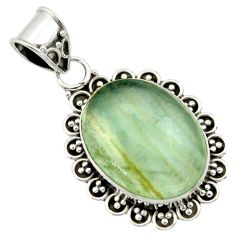 14.57cts aquatine lemurian calcite 925 sterling silver pendant jewelry r40209