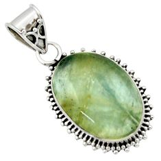 13.15cts aquatine lemurian calcite 925 sterling silver pendant jewelry r40212