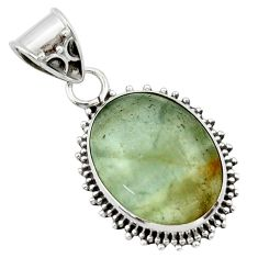 13.70cts aquatine lemurian calcite 925 sterling silver pendant jewelry r40214