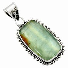 15.02cts aquatine lemurian calcite 925 sterling silver pendant jewelry r40217