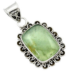 13.67cts aquatine lemurian calcite 925 sterling silver pendant jewelry r40218