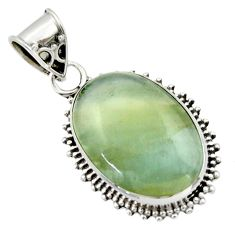 14.68cts aquatine lemurian calcite 925 sterling silver pendant jewelry r40222