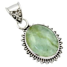 9.86cts aquatine lemurian calcite 925 sterling silver pendant jewelry r40223
