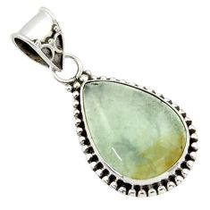 12.58cts aquatine lemurian calcite 925 sterling silver pendant jewelry r40225